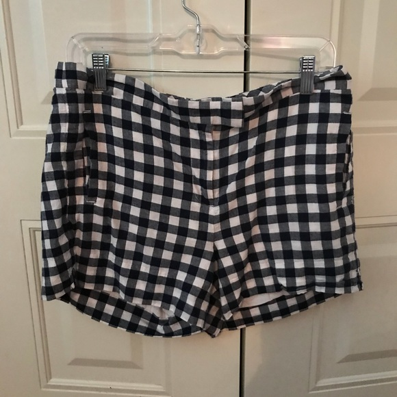 J. Crew Pants - Jcrew navy gingham shorts 6